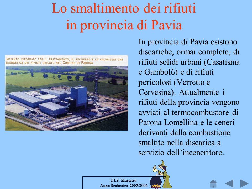 Lo smaltimento dei rifiuti in provincia di Pavia