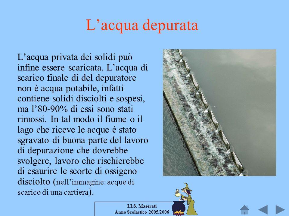 L'acqua depurata