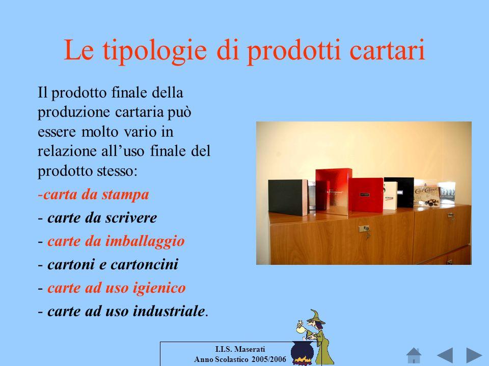 Le tipologie di prodotti cartari