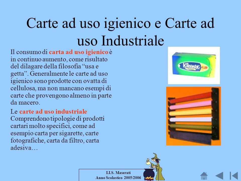 Carte ad uso igienico e Carte ad uso Industriale