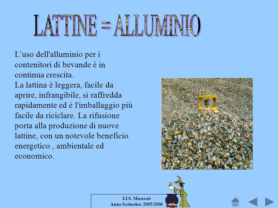 LATTINE = ALLUMINIO
