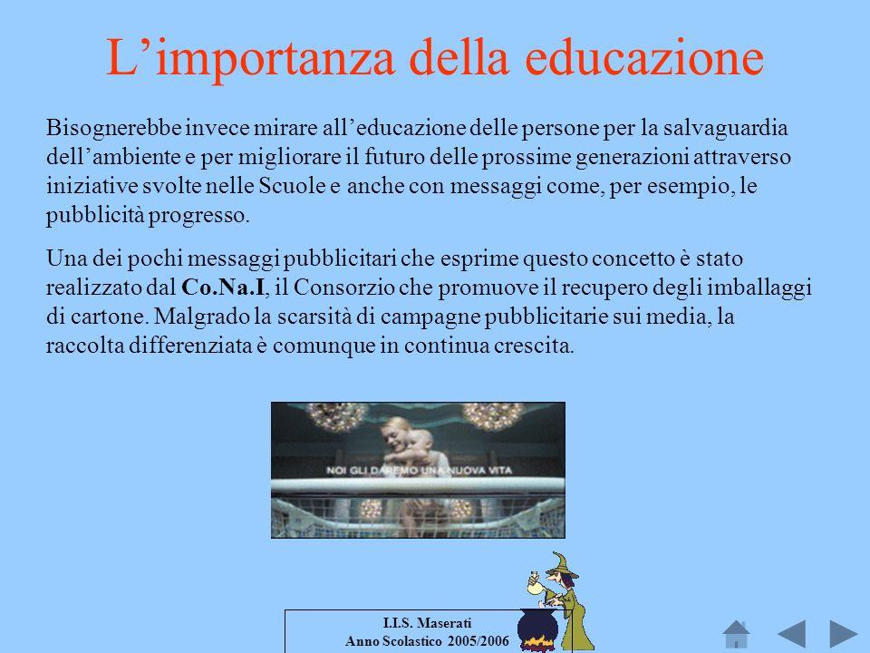 L'importanza della educazione