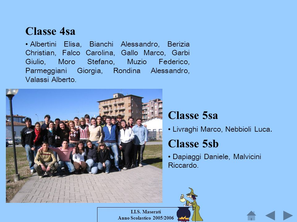 Classe 4sa Classe 5sa Classe 5sb