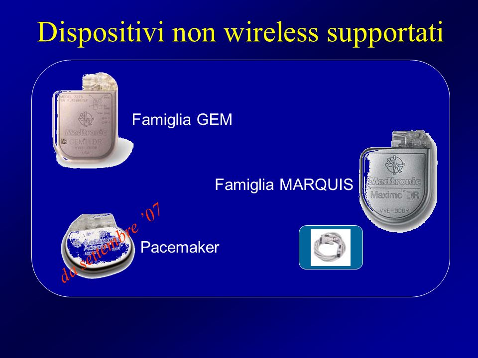 Dispositivi non wireless supportati