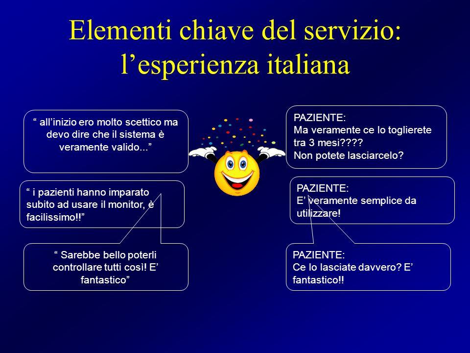 Elementi chiave del servizio: l'esperienza italiana