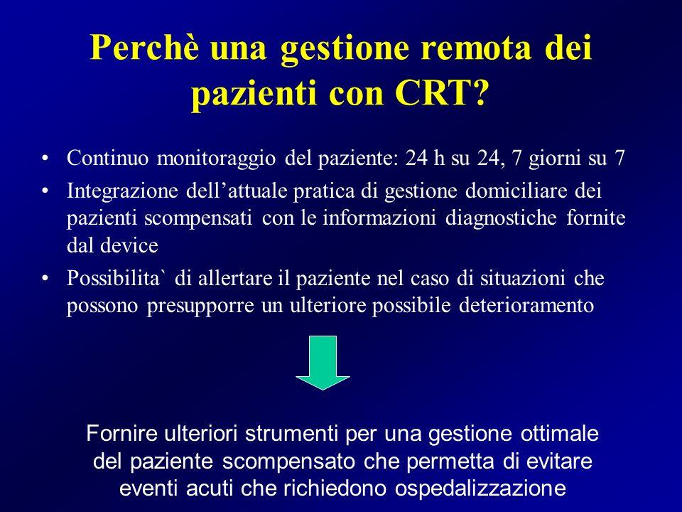 Perchè una gestione remota dei pazienti con CRT