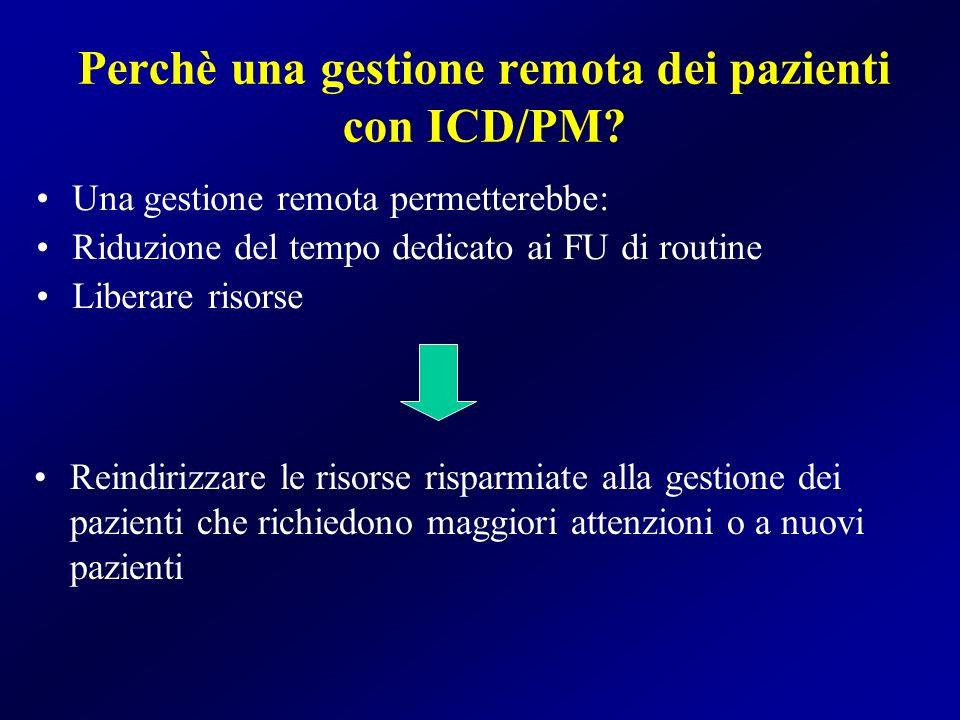 Perchè una gestione remota dei pazienti con ICD/PM
