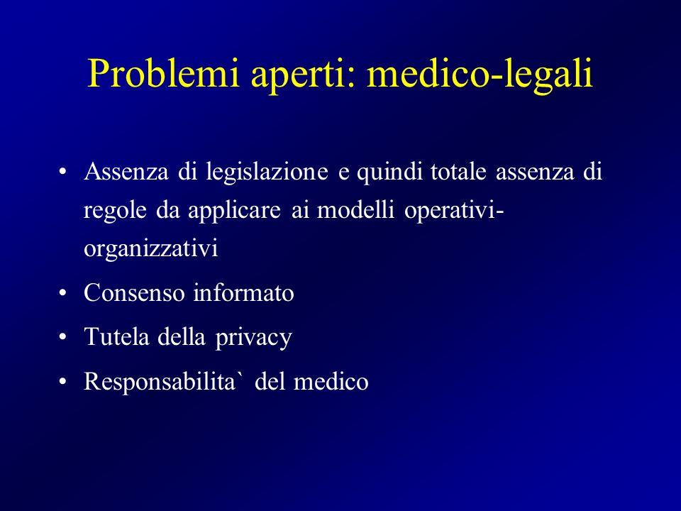 Problemi aperti: medico-legali