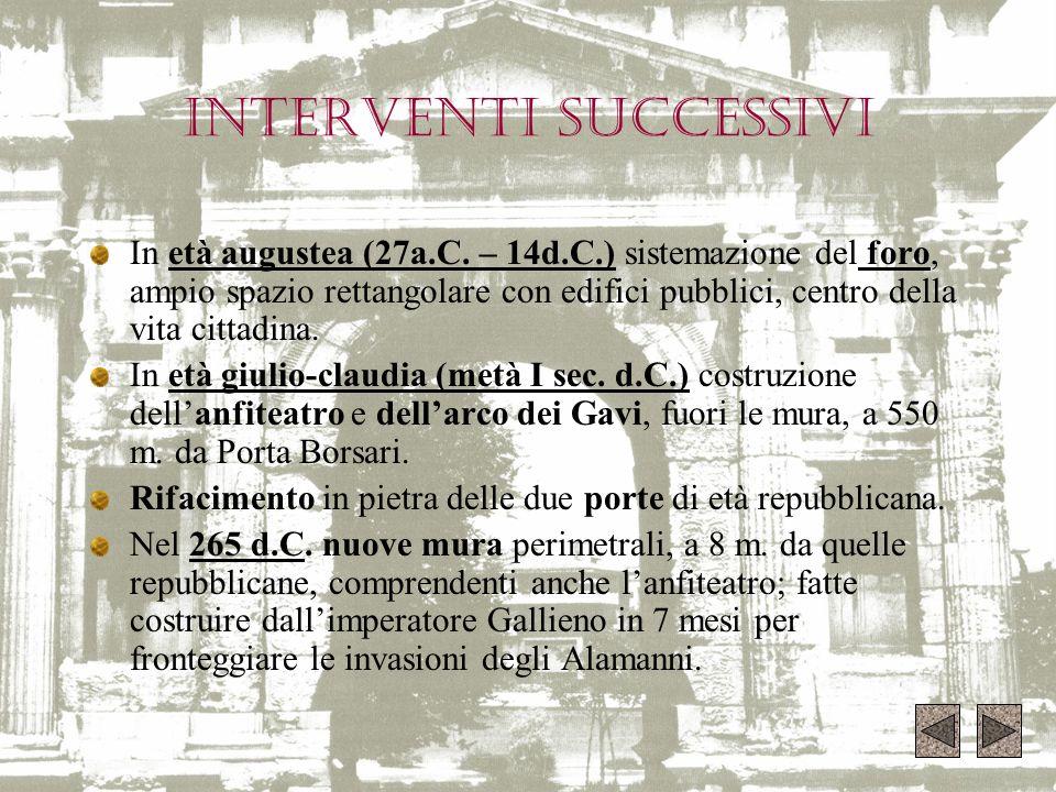 INTERVENTI SUCCESSIVI