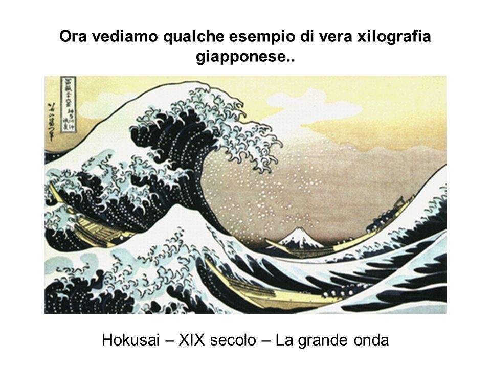 Ora vediamo qualche esempio di vera xilografia giapponese..