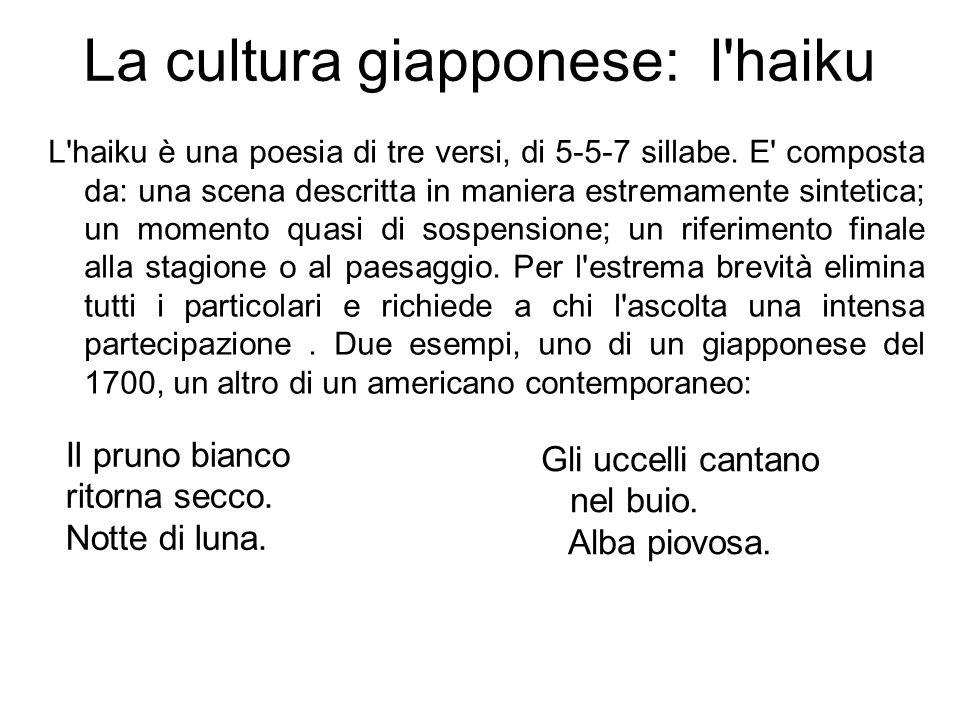 La cultura giapponese: l haiku