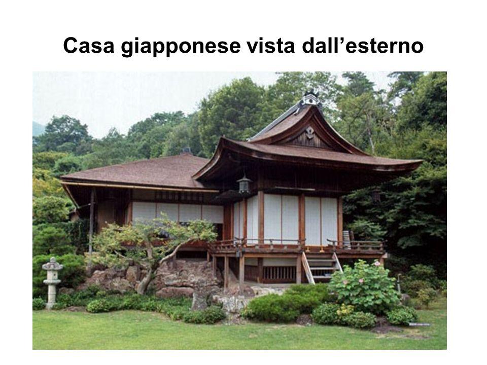 Casa giapponese vista dall'esterno