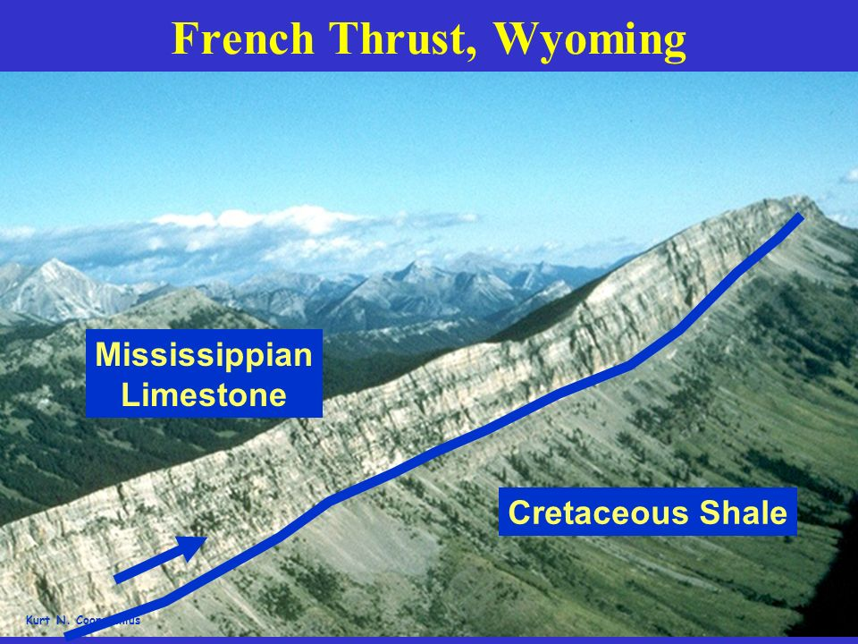 French Thrust, Wyoming Mississippian Limestone Cretaceous Shale
