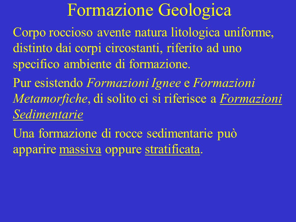 Formazione Geologica