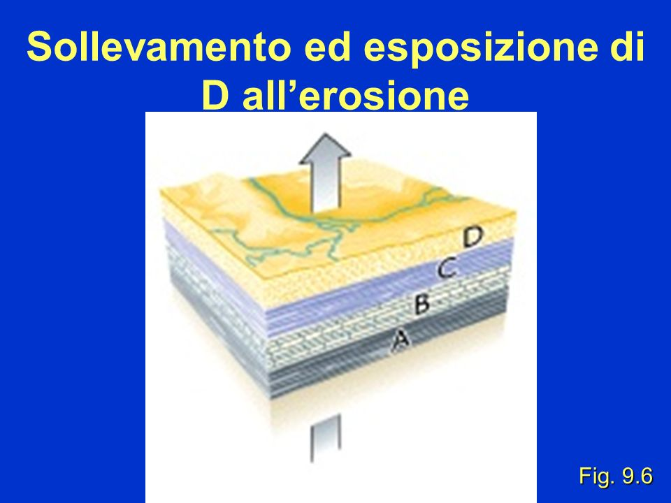 Sollevamento ed esposizione di D all'erosione