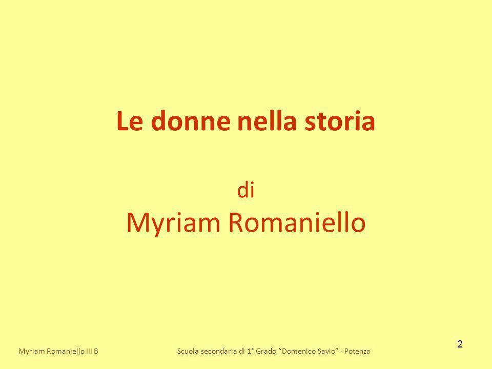 Le donne nella storia di Myriam Romaniello