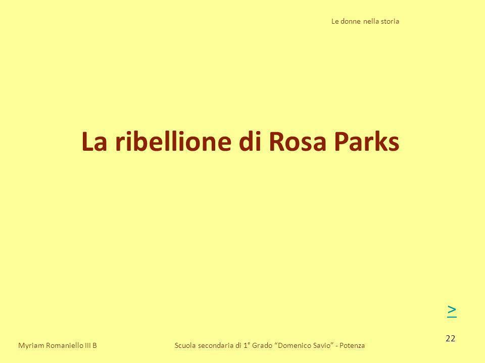 La ribellione di Rosa Parks