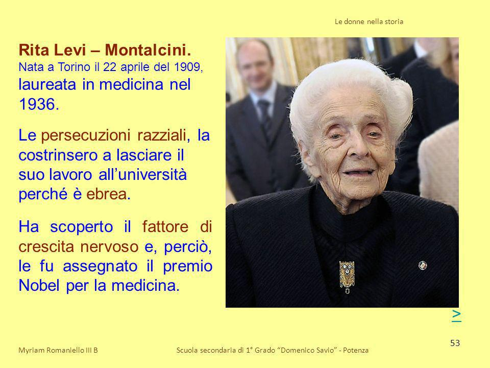 laureata in medicina nel 1936.