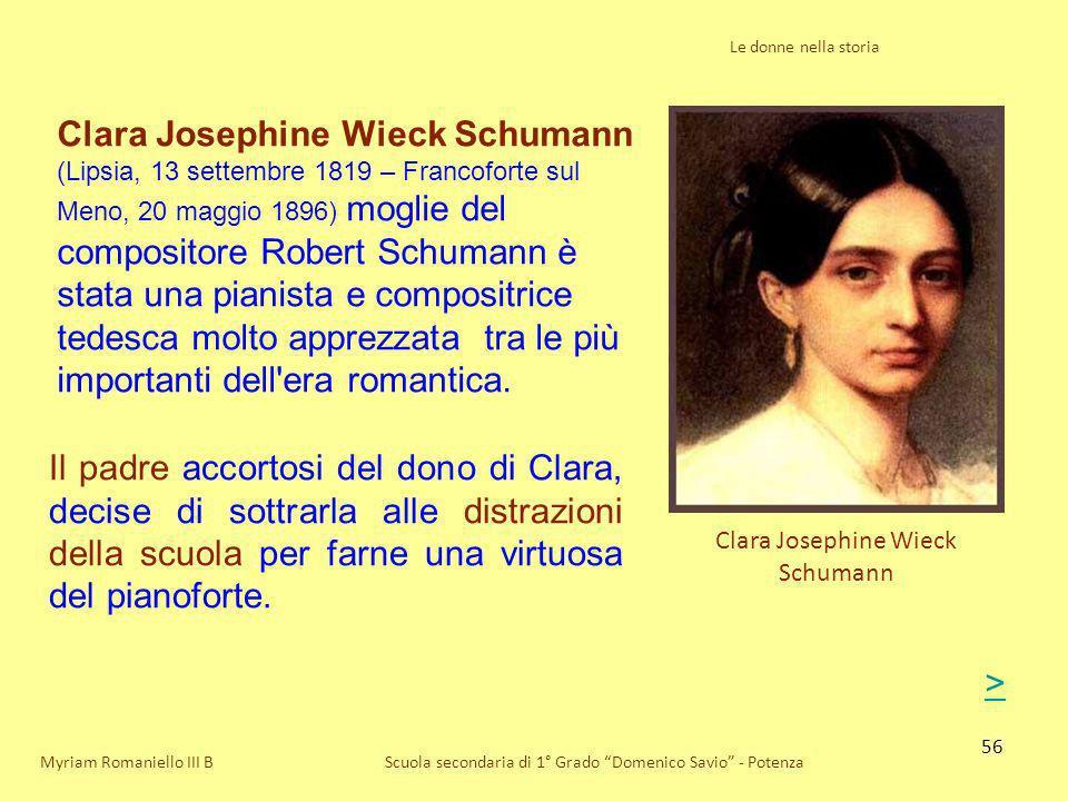 Clara Josephine Wieck Schumann