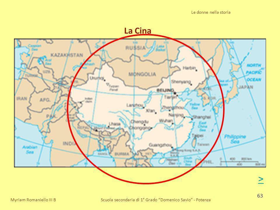 La Cina > Le donne nella storia Myriam Romaniello III B