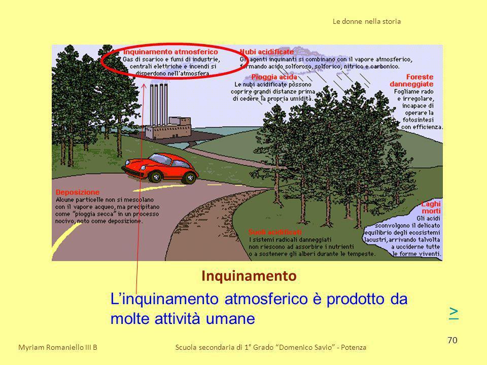 L'inquinamento atmosferico è prodotto da molte attività umane >