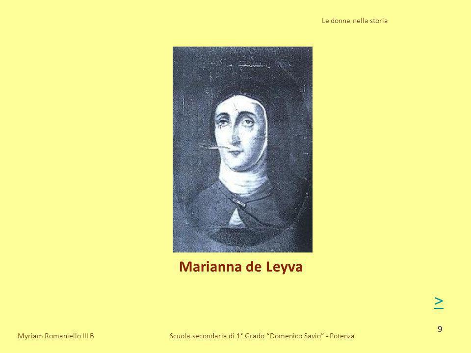 Marianna de Leyva > Le donne nella storia Myriam Romaniello III B