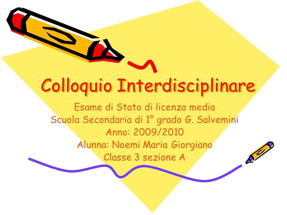 Colloquio Interdisciplinare