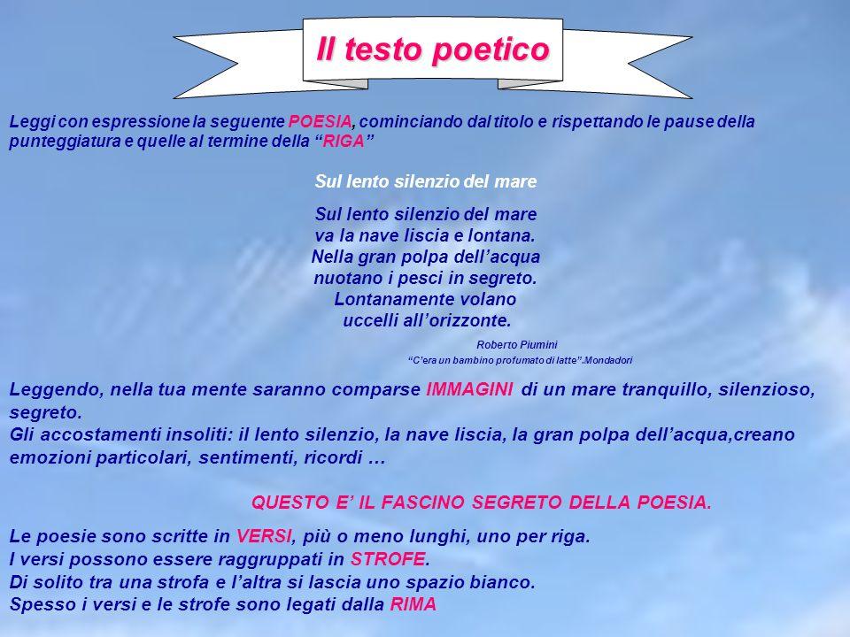Il testo poetico Roberto Piumini