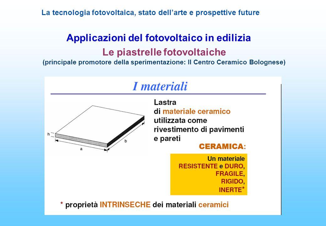Applicazioni del fotovoltaico in edilizia Le piastrelle fotovoltaiche