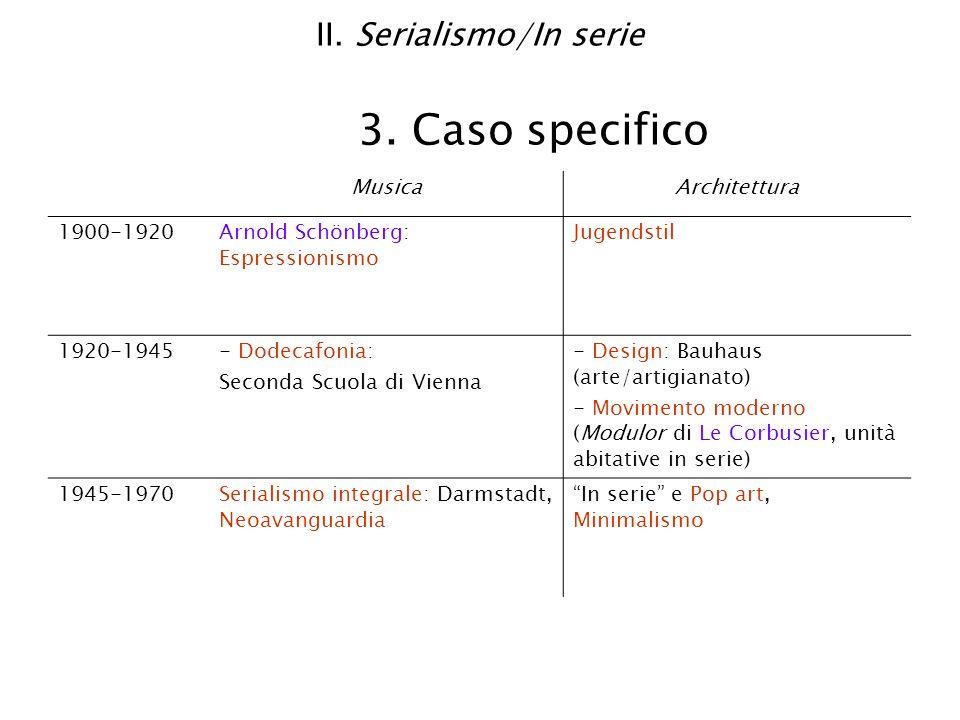 II. Serialismo/In serie 3. Caso specifico