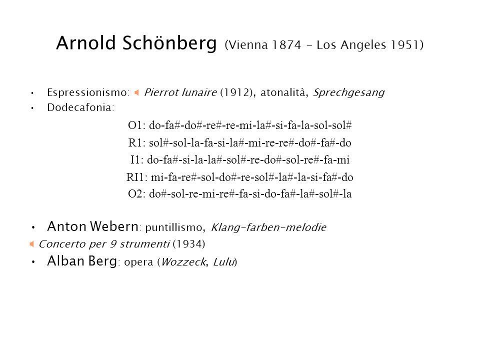 Arnold Schönberg (Vienna 1874 - Los Angeles 1951)