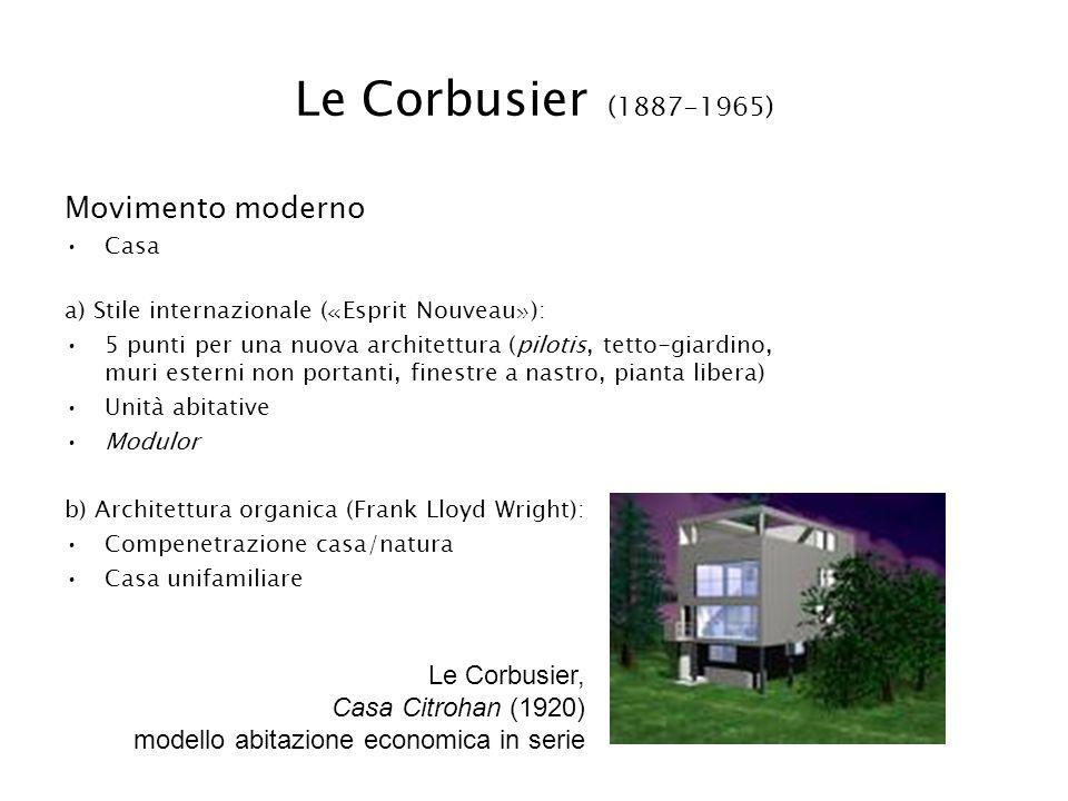 Le Corbusier (1887-1965) Movimento moderno Le Corbusier,