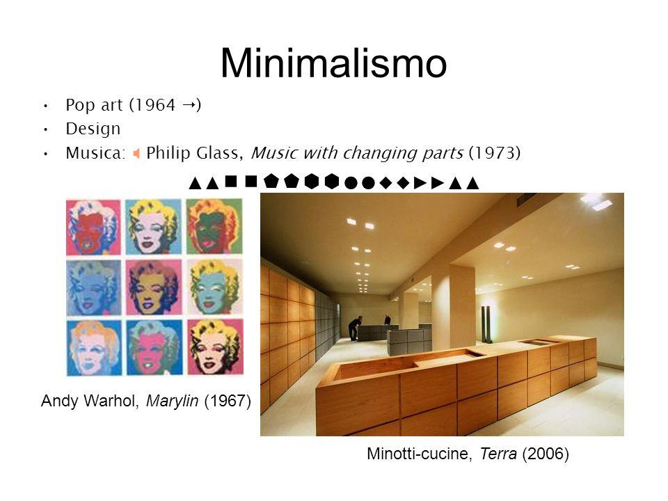 Minimalismo ▲▲●●◆◆▶▶▲▲ Pop art (1964 ) Design