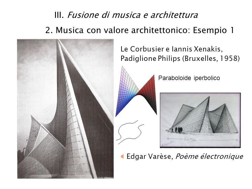 III. Fusione di musica e architettura 2
