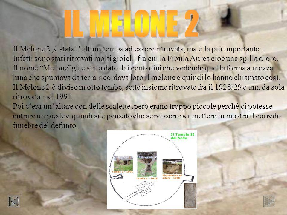 IL MELONE 2 Il Melone 2 ,è stata l'ultima tomba ad essere ritrovata, ma è la più importante ,