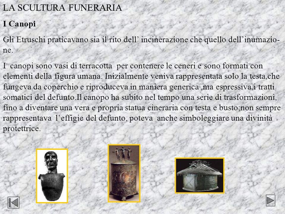 LA SCULTURA FUNERARIA I Canopi
