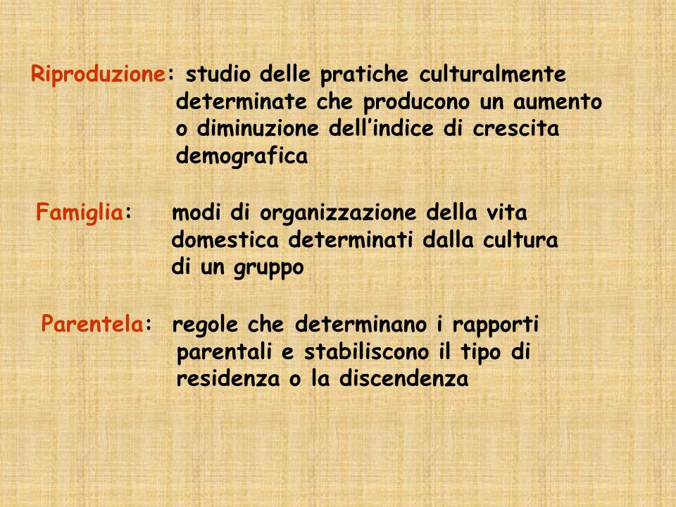 Riproduzione: studio delle pratiche culturalmente