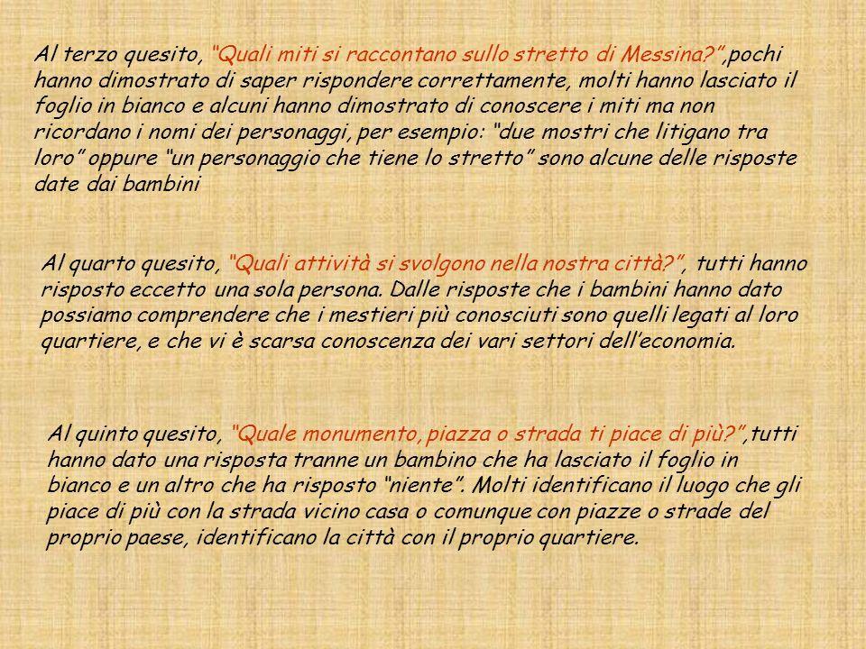 Al terzo quesito, Quali miti si raccontano sullo stretto di Messina