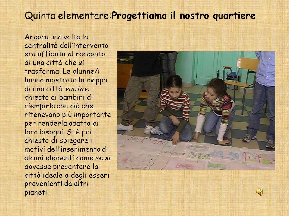 Quinta elementare:Progettiamo il nostro quartiere