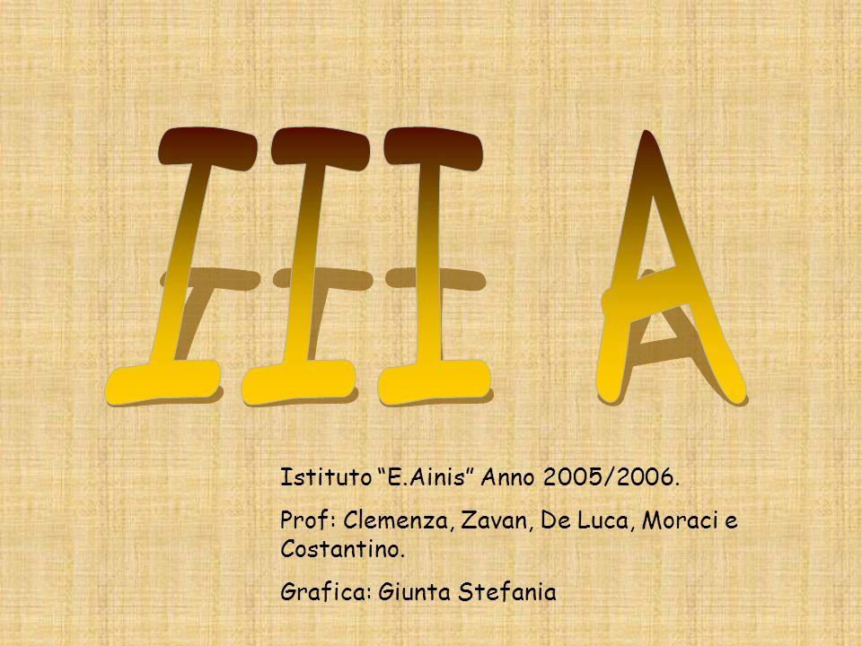 III A Istituto E.Ainis Anno 2005/2006.