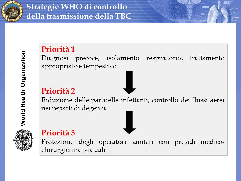 Strategie WHO di controllo della trasmissione della TBC