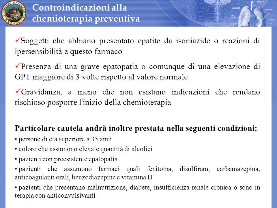 Controindicazioni alla chemioterapia preventiva