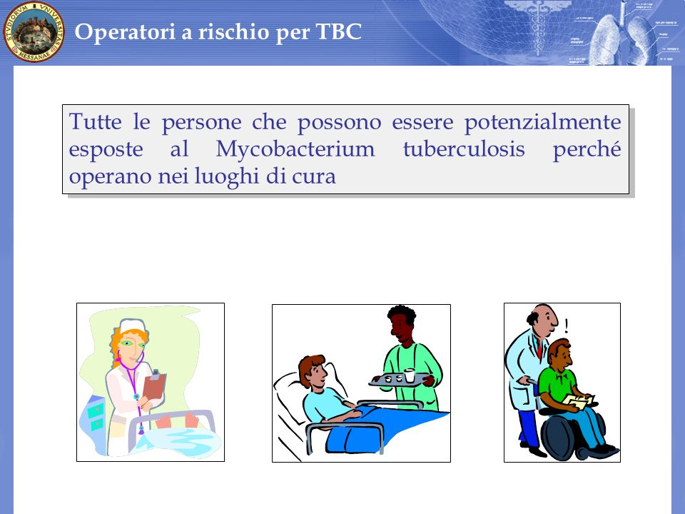 Operatori a rischio per TBC