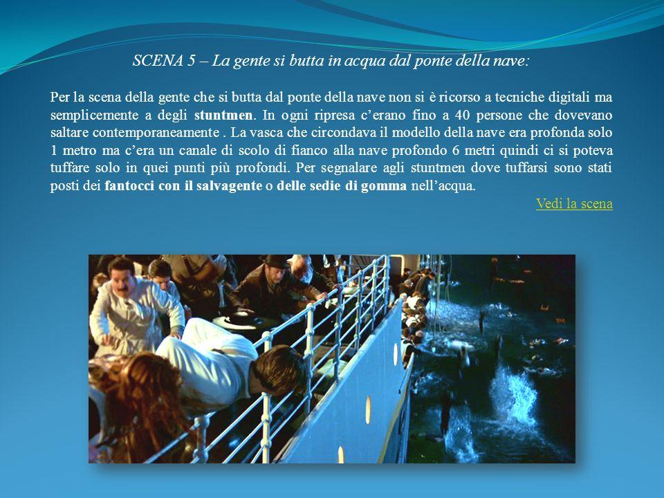 SCENA 5 – La gente si butta in acqua dal ponte della nave: