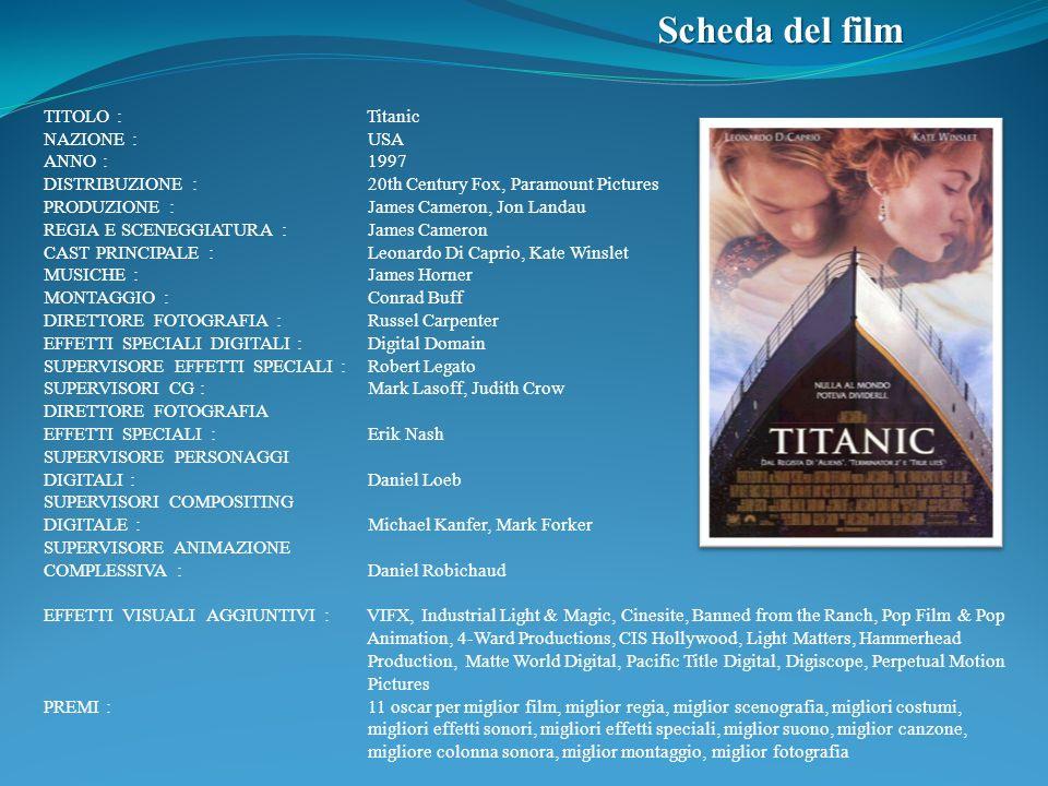 Scheda del film TITOLO : Titanic NAZIONE : USA ANNO : 1997