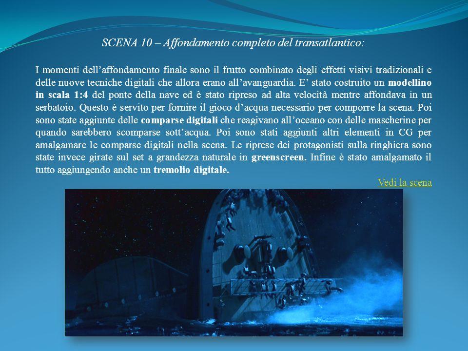 SCENA 10 – Affondamento completo del transatlantico: