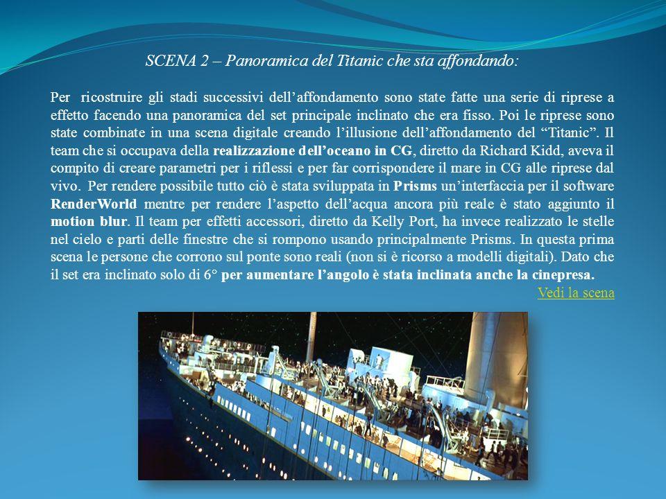 SCENA 2 – Panoramica del Titanic che sta affondando: