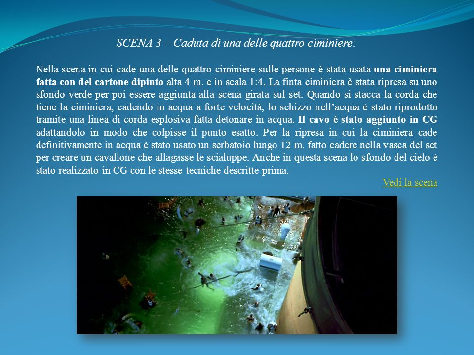 SCENA 3 – Caduta di una delle quattro ciminiere: