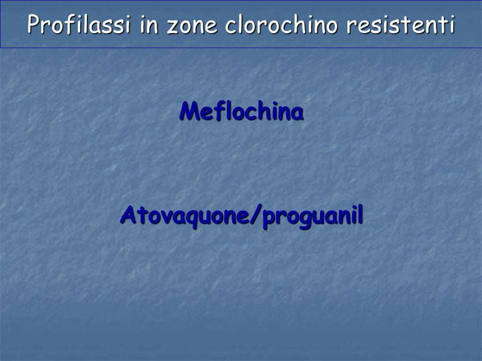Profilassi in zone clorochino resistenti