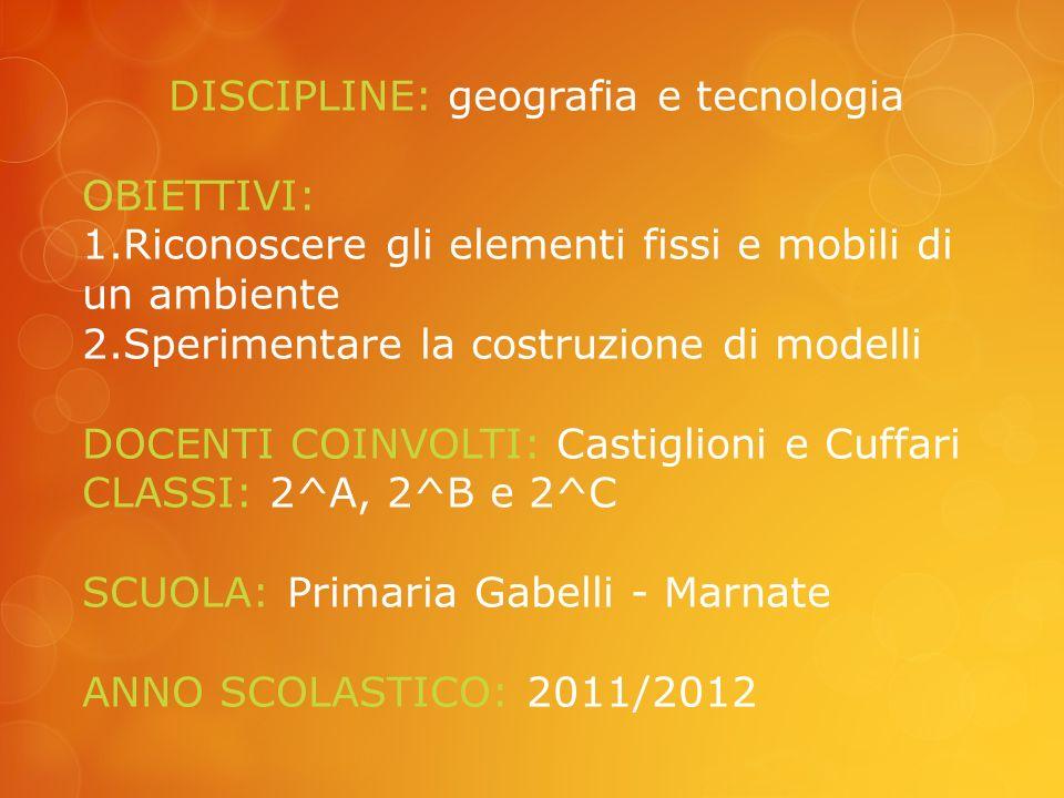DISCIPLINE: geografia e tecnologia